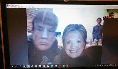 クリントン氏とトランプ氏
